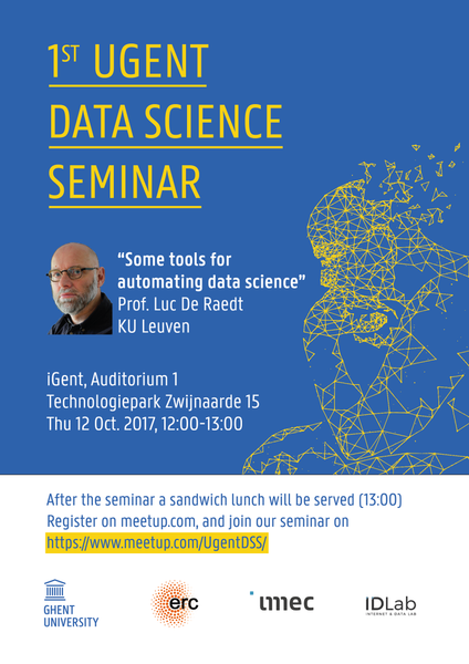 1st UGent Data Science Seminar with Prof. Luc De Raedt