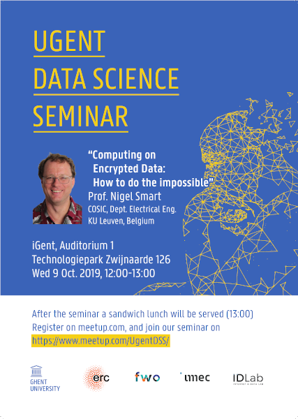 14th UGent Data Science Seminar with Prof. Nigel Smart