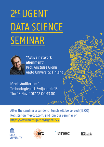 2nd UGent Data Science Seminar with Prof. Aristides Gionis