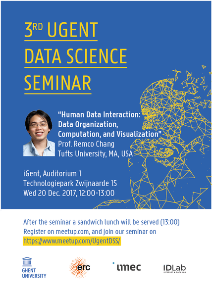 3rd UGent Data Science Seminar with Prof. Remco Chang