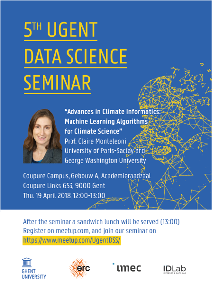 5th UGent Data Science Seminar with Prof. Claire Monteleoni